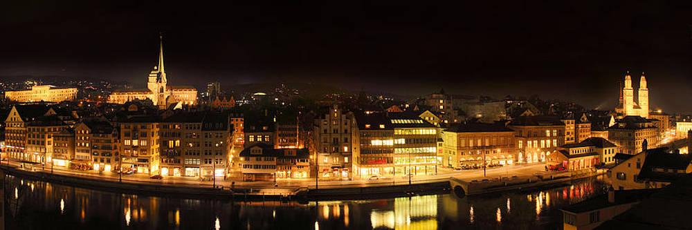 Nighttime in Zurich by Marc Huebner