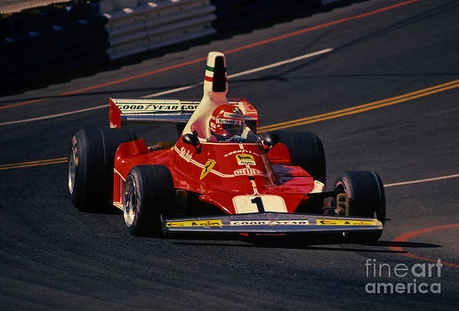 Niki Lauda- Ferrari 312T2-1976 Long Beach Grand Prix by Howard Koby