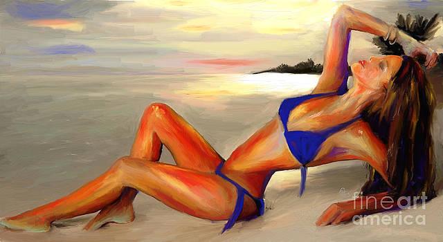 Nina on the Beach by G Cannon