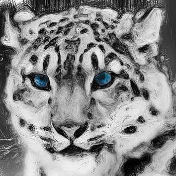 Nixolas Nixo Tiger Art Painting by Never Say  Never Inc