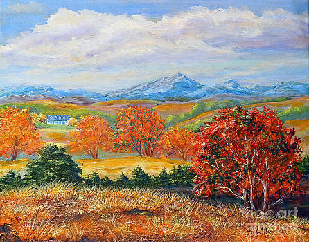 Nixon's Brilliant Autumn View Alongside The Blue Ridge by Lee Nixon