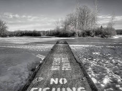 No Fishing BW  by Jenny Ellen Photography