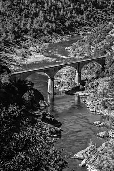 No Hands Bridge Black and White by Sherri Meyer