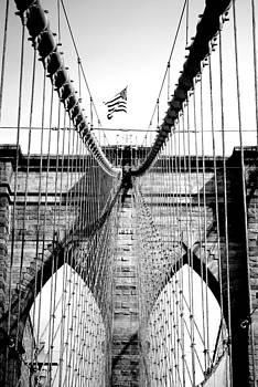 No Sleep 'til Brooklyn Black and White by Amanda Lomonaco
