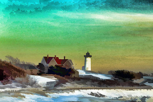 Nobska Lighhouse in Winter by PepperMillPatty Photography