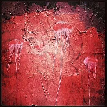 #nolibs #streetart #pink #jellyfish by John Baccile