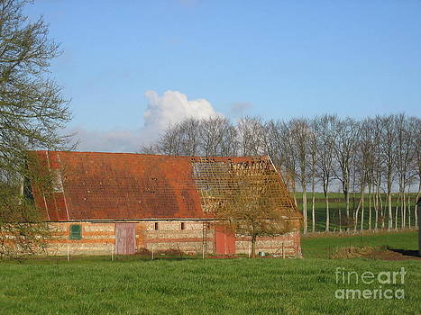 Normandy Storm Damaged Barn by HEVi FineArt