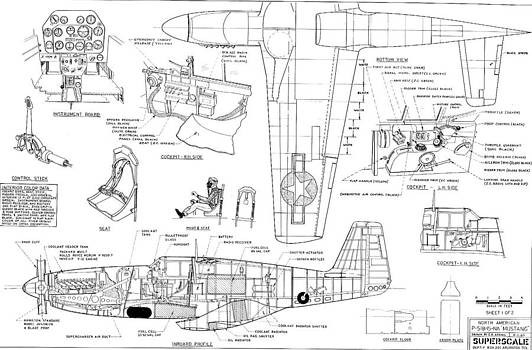 John King - North American Mustang P51-B Schematic Diagram