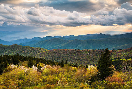North Carolina Blue Ridge Parkway Scenic Mountain Landscape Photography by Dave Allen