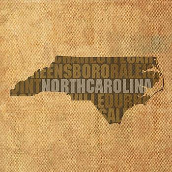 Design Turnpike - North Carolina Word Art State Map on Canvas