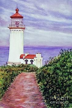North Head Light House on the Washington Coast by Cynthia Pride
