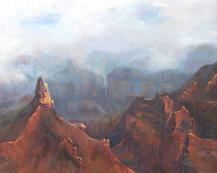 North Rim Mist by Marcy Silverstein