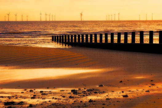 North Sea Wind Farm by Paul W Sharpe Aka Wizard of Wonders