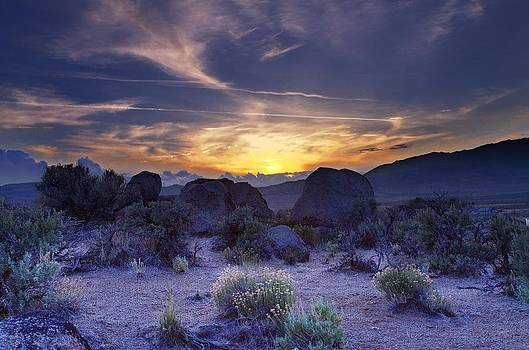 North west Palomino Valley Nv Sunset by SB Sullivan