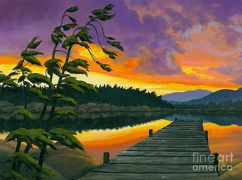 After Glow - Oil / Canvas by Michael Swanson