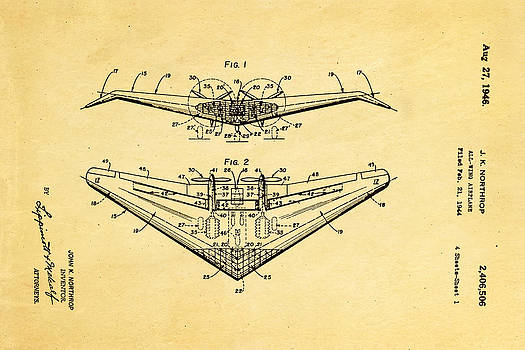 Ian Monk - Northrop All Wing Airplane Patent Art 1946