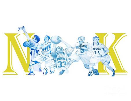 Norwalk basketball artwork by Gerard  Schneider Jr
