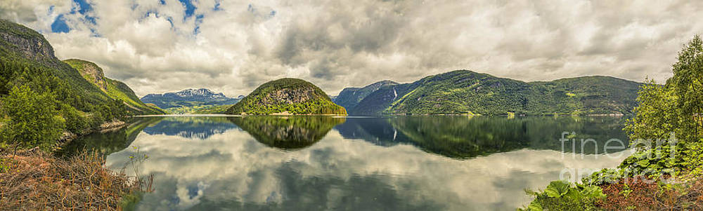 Norway Serenity in Panorama by Angela A Stanton