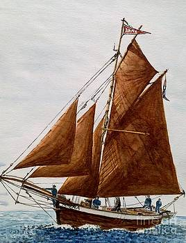 Norwegian Fishing Vessel by Julie Jules Grant-Field
