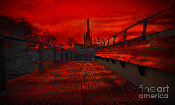Darren Burroughs - Norwich Cathedral From The Jarrold Bridge