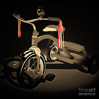 Wingsdomain Art and Photography - Nostalgic Vintage Tricycle 20150225 square sepia