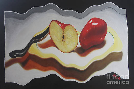 Not so still life Apples by Sergio B