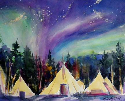 NORTHERN LIGHTS Glow under Aurora SOLD by Therese Fowler-Bailey