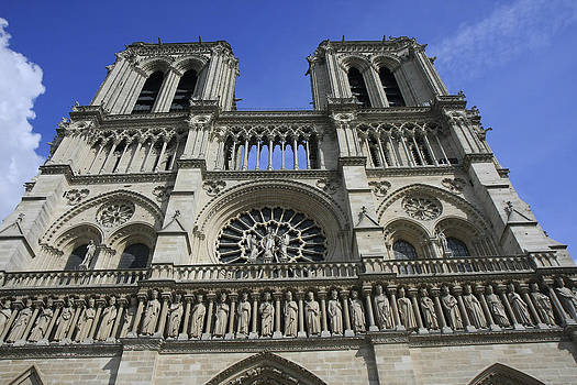 Notre Dame Cathedral Front View by Gladys Turner Scheytt