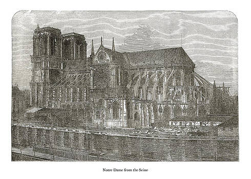 London Illustrated News - Notre Dame from the Seine
