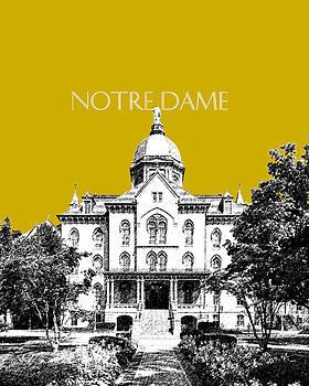 DB Artist - Notre Dame University Skyline Main Building - Gold