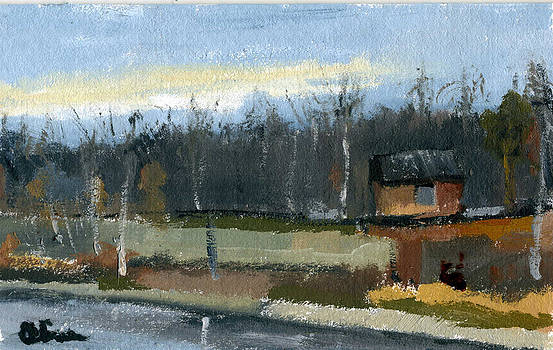 November plein air by Lelia Sorokina