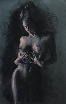 Nu Dans La Penombre by Dorina  Costras