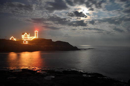 Nubble Lighthouse in York Maine by Rick Frost