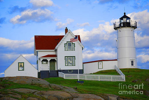 Nubble Lighthouse-Maine by Lorena Mahoney