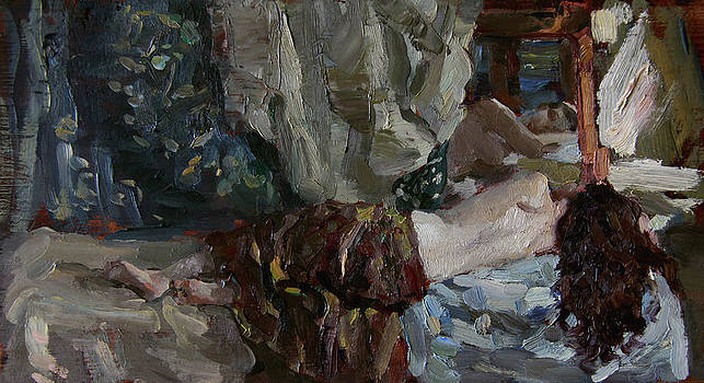 Nude before the mirror by Korobkin Anatoly