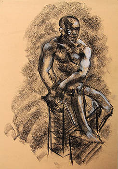 Nude Black Man by Jay Herres