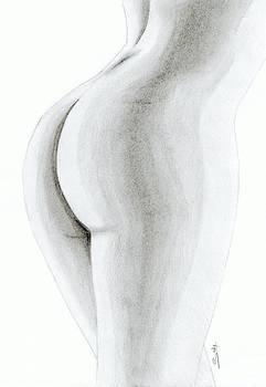 Nude Buttock by Saki Art