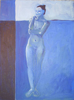 Victoria Sheridan - Nude in blue