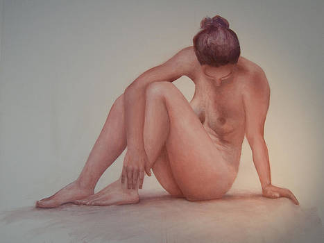 Nude model study by Jos Van de Venne