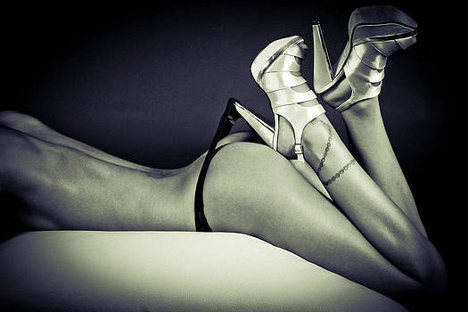 Nude With High Heels by Thomas Pfeller