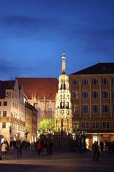 Nuernberg at night by Heidi Poulin