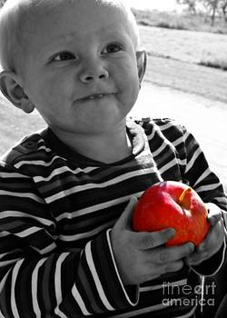 Num Num Apples bw by Samantha Radermacher
