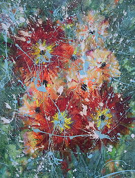 Number 9 - Dahlias by Leticia Sedberry