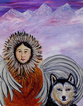 Nunataqu and Nanook Earth Angels From Alaska by The Art With A Heart By Charlotte Phillips