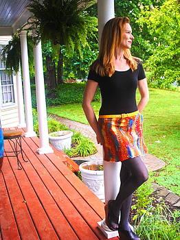 Nuno felted skirt  by Mirinda Reynolds