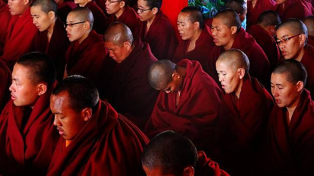 Nuns at Kopan Monastery by Greg Holden