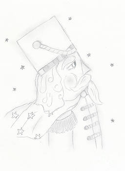 Nutcracker Toy Soldier in Black and White by Sonya Chalmers