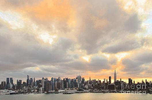 Regina Geoghan - NY Skyline Sunrise Storm