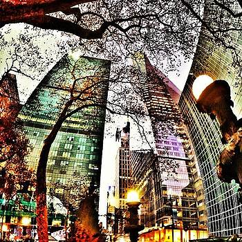 #nyc #42ndst #bryantpark #lights #trees by Matthew Tarro