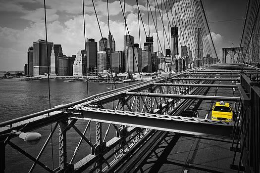 NYC Brooklyn Bridge View by Melanie Viola